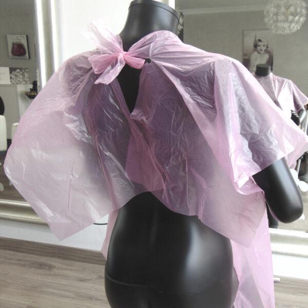 capa de tinte desechable de peluquería rosa 1