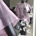 capa de tinte desechable de peluquería rosa 2