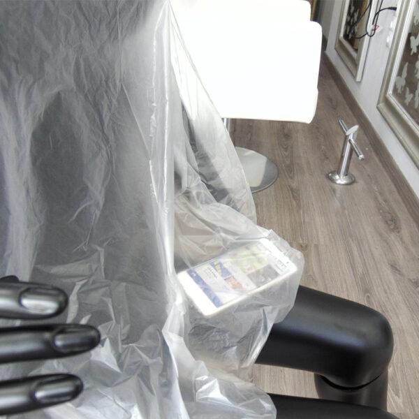 capa de tinte desechable de peluquería transparente 1