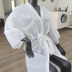 kimonos desechables peluqueria blancos canarias