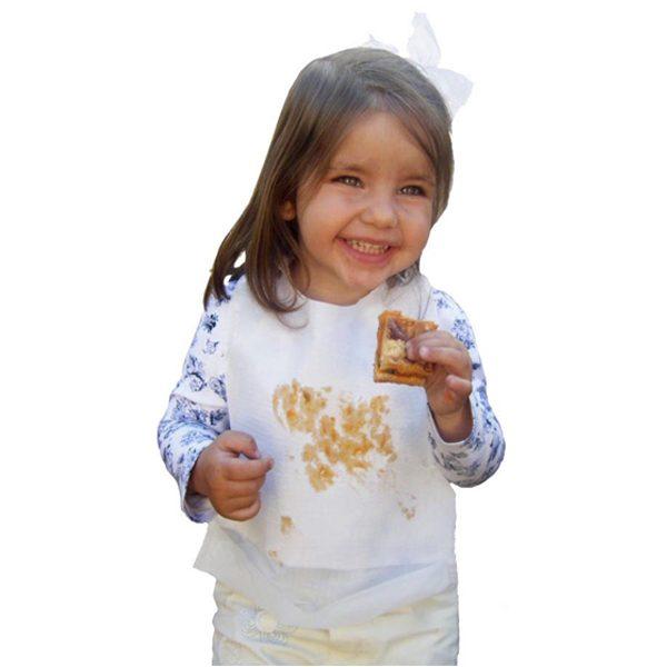 Babero infantil Celulosa Plastificada