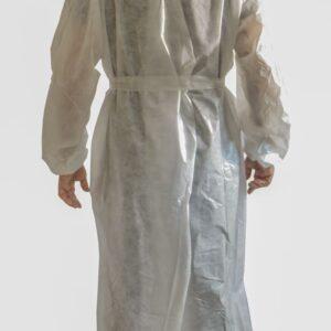 Bata Médica Blanca Impermeable Plastificada Trasera PlanetHair Store