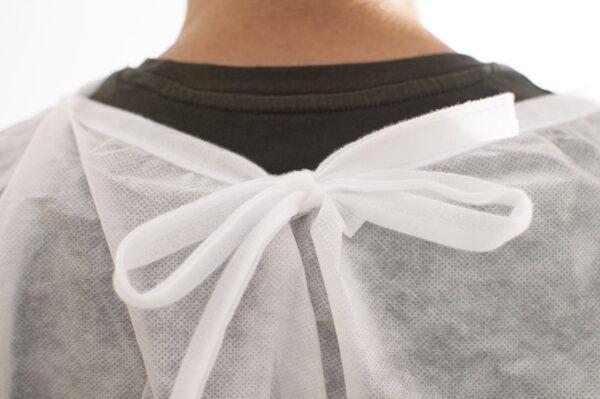 Lazo cuello Bata Médica Blanca Impermeable Plastificada PlanetHair Store